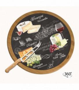 Otočný tanier na syr BAMBOO