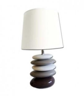 Lampa - bielo hnedé kamene