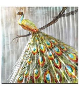 Obraz ručne maľovaný Páv