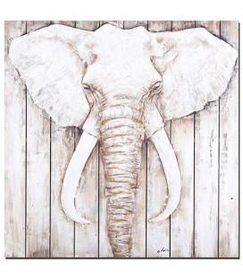 Obraz ručne maľovaný Slon na dreve